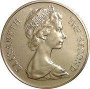 1 couronne - Elizabeth II (2ème effigie, chat Manx) – avers