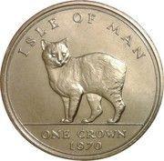 1 couronne - Elizabeth II (2ème effigie, chat Manx) – revers