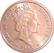 ½ penny - Elizabeth II (3eme effigie) – avers