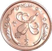 ½ penny - Elizabeth II (3eme effigie) – revers