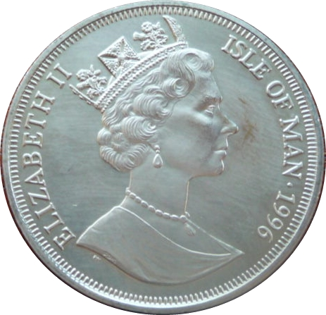 1 crown elizabeth ii euro 1996 winner le de man numista. Black Bedroom Furniture Sets. Home Design Ideas