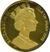 1/20 Angel - Elizabeth II (3ème portrait) – avers