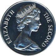 1 crown - Elizabeth II (2eme effigie, chat Manx) – avers