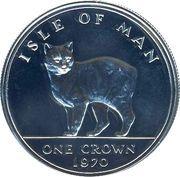 1 crown - Elizabeth II (2eme effigie, chat Manx) – revers