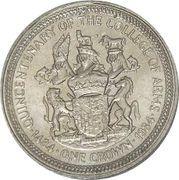 1 Crown - Elizabeth II (2nd portrait; College of Arms) -  revers