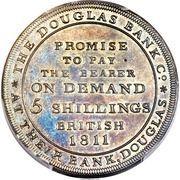 5 Shillings (Douglas Bank) – revers