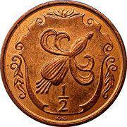 ½ penny - Elizabeth II (2eme effigie) – revers