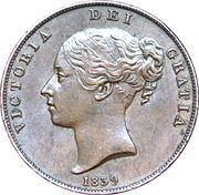 1 penny - Victoria – avers
