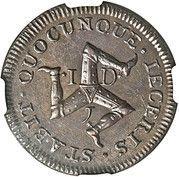 1 penny - James Stanley – revers
