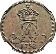 1 penny - James Murray duc d'Atholl – avers