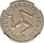 1 penny - James Murray duc d'Atholl – revers