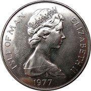 1 crown - Elizabeth II (2eme effigie; jubilé d'argent) -  avers