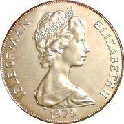 1 crown - Elizabeth II (2eme effigie; Tynwald) -  avers