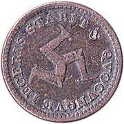 ½ penny (jeton de banque) – avers