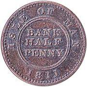 ½ penny (jeton de banque) – revers