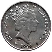 5 pence - Elizabeth II (3eme effigie; petit module) -  avers