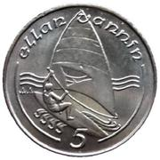 5 pence - Elizabeth II (3eme effigie; petit module) -  revers