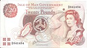 Isle of Man Governmen £20 Series 43 and 45 – avers