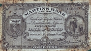 1 Pound - Martins Bank Limited – avers