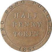 ½ penny - William Callister (jeton de banque) – revers