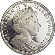 2 crowns - Elizabeth II (4eme effigie; découverte du Palladium) – avers