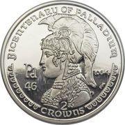 2 crowns - Elizabeth II (4eme effigie; découverte du Palladium) – revers