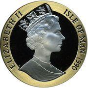 5 crown - Elizabeth II (3eme effigie; Penny Black) – avers