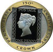 5 crown - Elizabeth II (3eme effigie; Penny Black) – revers