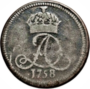 ½ penny - James Murray duc d'Atholl – avers