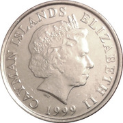 5 cents - Elizabeth II (4eme effigie) – avers