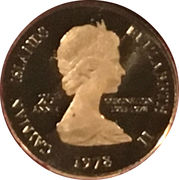 1 Cent - Elizabeth II (25th Anniversary of Coronation) – avers