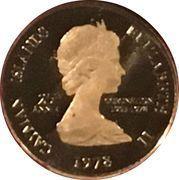 1 cent - Elizabeth II (25ème anniversaire du couronnement) – avers