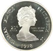 25 Cents - Elizabeth II (25ème anniversaire de couronnement) – avers