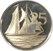 25 Cents - Elizabeth II (25ème anniversaire de couronnement) – revers
