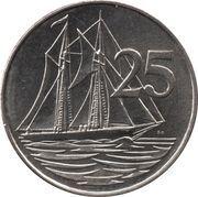 25 cents - Elizabeth II (4eme effigie) – revers