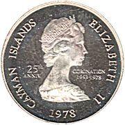 5 Cents - Elizabeth II (25ème anniversaire de couronnement) – avers
