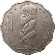 1 dollar - Elizabeth II (3° effigie) -  revers