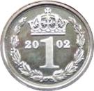 1 Penny Elizabeth II (Maundy money) – revers