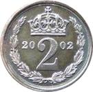 2 pence Elizabeth II Maundy money – revers