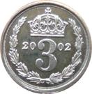 3 pence Elizabeth II Maundy money – revers