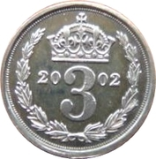 3 pence Elizabeth II Maundy money -  revers