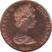 1 cent - Elizabeth II (2e effigie ; mariage Charles - Diana) – avers