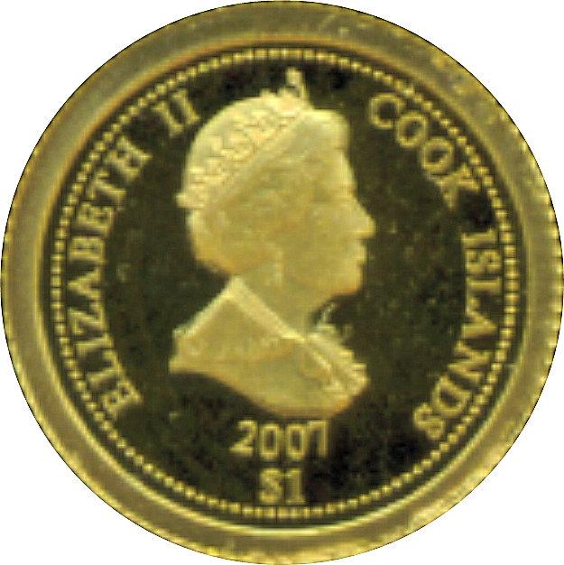 1 Dollar Elizabeth Ii 2 Euro Vatican Benedict Xvi îles Cook