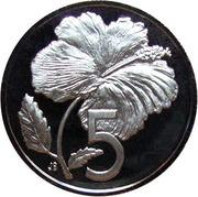 5 cents - Elizabeth II (2e effigie) – revers