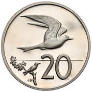 20 cents - Elizabeth II (3e effigie) – revers