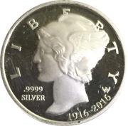10 Cents - Elizabeth II / 100th Anniversary of the Mercury Dime – revers