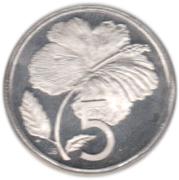 5 cents - Elizabeth II (2e effigie ; James Cook) – revers