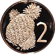 2 cents - Elizabeth II (2e effigie ; mariage Charles - Diana) – revers