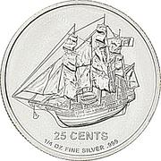 25 Cents - Elizabeth II (''Bounty'' Silver bullion) – revers