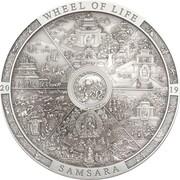 20 Dollars - Elizabeth II (Wheel of Life) -  revers